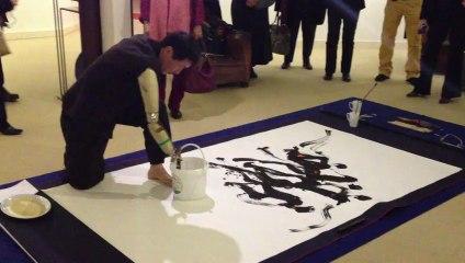 Vernissage de l'exposition Chang- Woo SEOK à la galerie de l'entrepôt