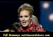 $Adele accepts the Best Pop Solo Performance GRAMMY at the 55th Annual GRAMMY Awards 2013