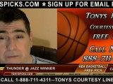 Utah Jazz versus Oklahoma City Thunder Pick Prediction NBA Pro Basketball Odds Preview 2-12-2013