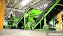 Video de Las Trituradoras, Trituradora de Llantas, Reciclado de Llantas, ECO Green Equipment