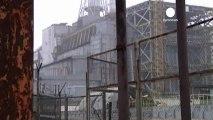 Tchernobyl: effondrement d'une partie d'un toit de la...