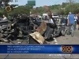 Accidente de tránsito en Barquisimeto dejó 3 muertos y 4 heridos