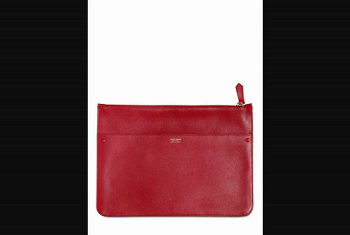 Giorgio Armani  Large Textured Leather Pouch Fashion Trends 2013 From Fashionjug.com