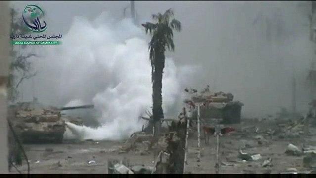 Syrie : MEN vs TANKS (déc à fev 2013 ) à Deraya
