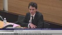 Travaux en commission : Audition de Marc Trévidic, juge d'instruction au pôle antiterroriste, vice-président chargé de l'instruction au Tribunal de grande instance de Paris (pôle anti-terroriste)