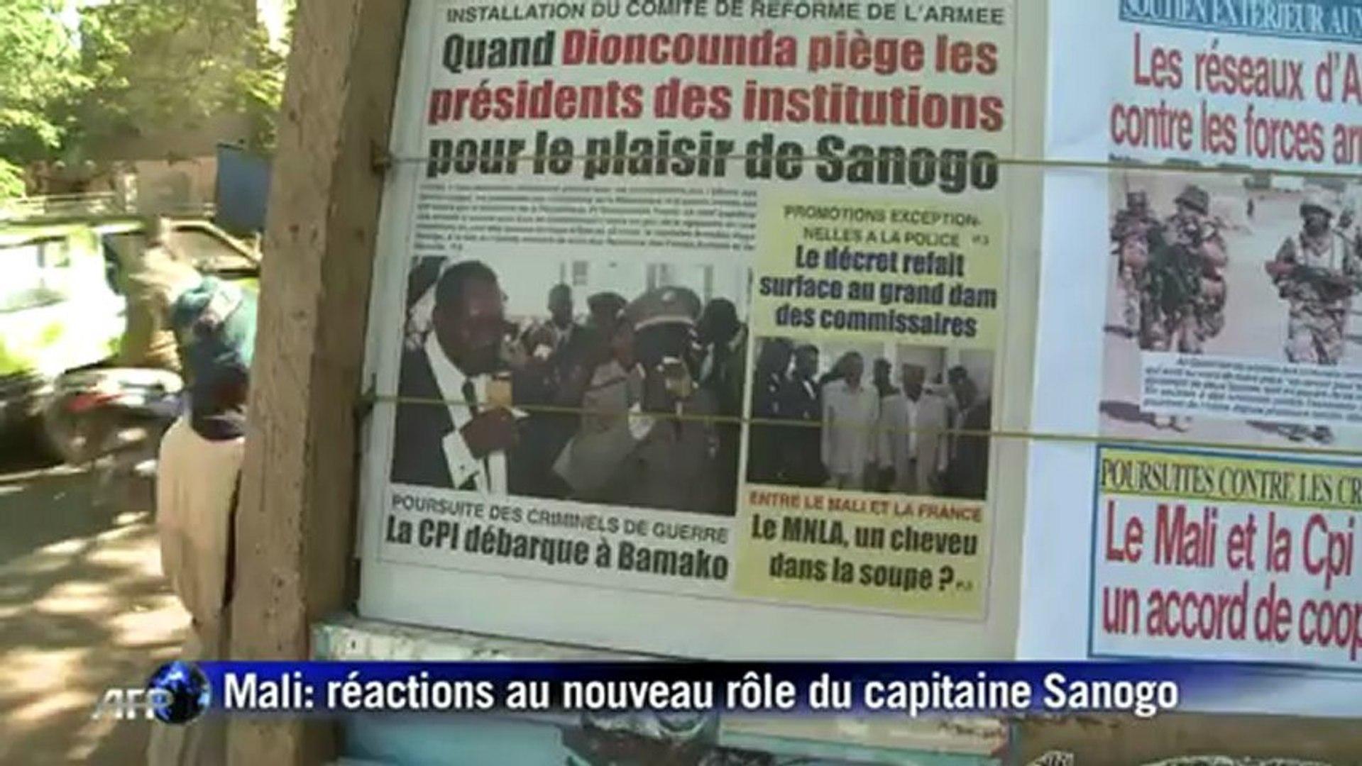 Réactions à Bamako sur le nouveau rôle de Sanogo
