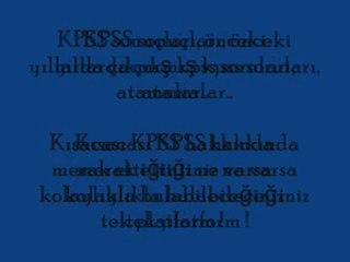 KPSS A