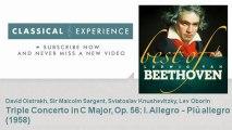 Ludwig van Beethoven   Triple Concerto in C Major, Op  56   I  Allegro - Più allegro