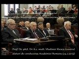 Prof Vladimir Iliescu despre holocaustul inexistent din Romania la Academia Romana