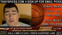 California Golden Bears versus USC Trojans Pick Prediction NCAA College Basketball Odds Preview 2-17-2013