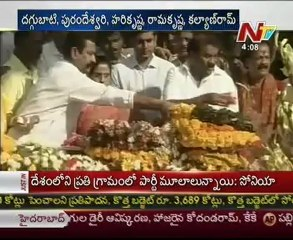 NTR Family Members pay tribute at NTR Ghat & Talking to Media One By One