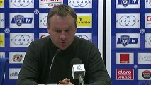 Conférence de presse SC Bastia - OGC Nice : Frédéric HANTZ (SCB) - Claude  PUEL (OGCN) - saison 2012/2013