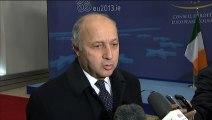 Mali / Syrie : Laurent Fabius au Conseil Affaires étrangères (Bruxelles, 18.02.2013)
