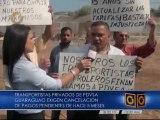 Taxista que trabajan para Pdvsa exigen pagos pendientes en Anzoátegui