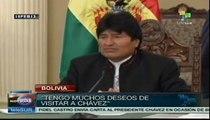Evo Morales envía mensaje de apoyo a Hugo Chávez