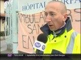 Les ambulanciers du SAMU en grève (Toulouse)