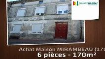 A vendre - Maison/villa - MIRAMBEAU (17150) - 6 pièces - 170m²