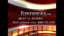 Atlanta Hawks versus Miami Heat Pick Prediction NBA Pro Basketball Odds Preview 2-20-2013