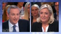 """Le Maire : """"Vous n'êtes pas le diable, Marine Le Pen, vous êtes le passé"""""""