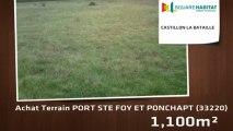 A vendre - Terrain - PORT STE FOY ET PONCHAPT (33220) - 1 100m²