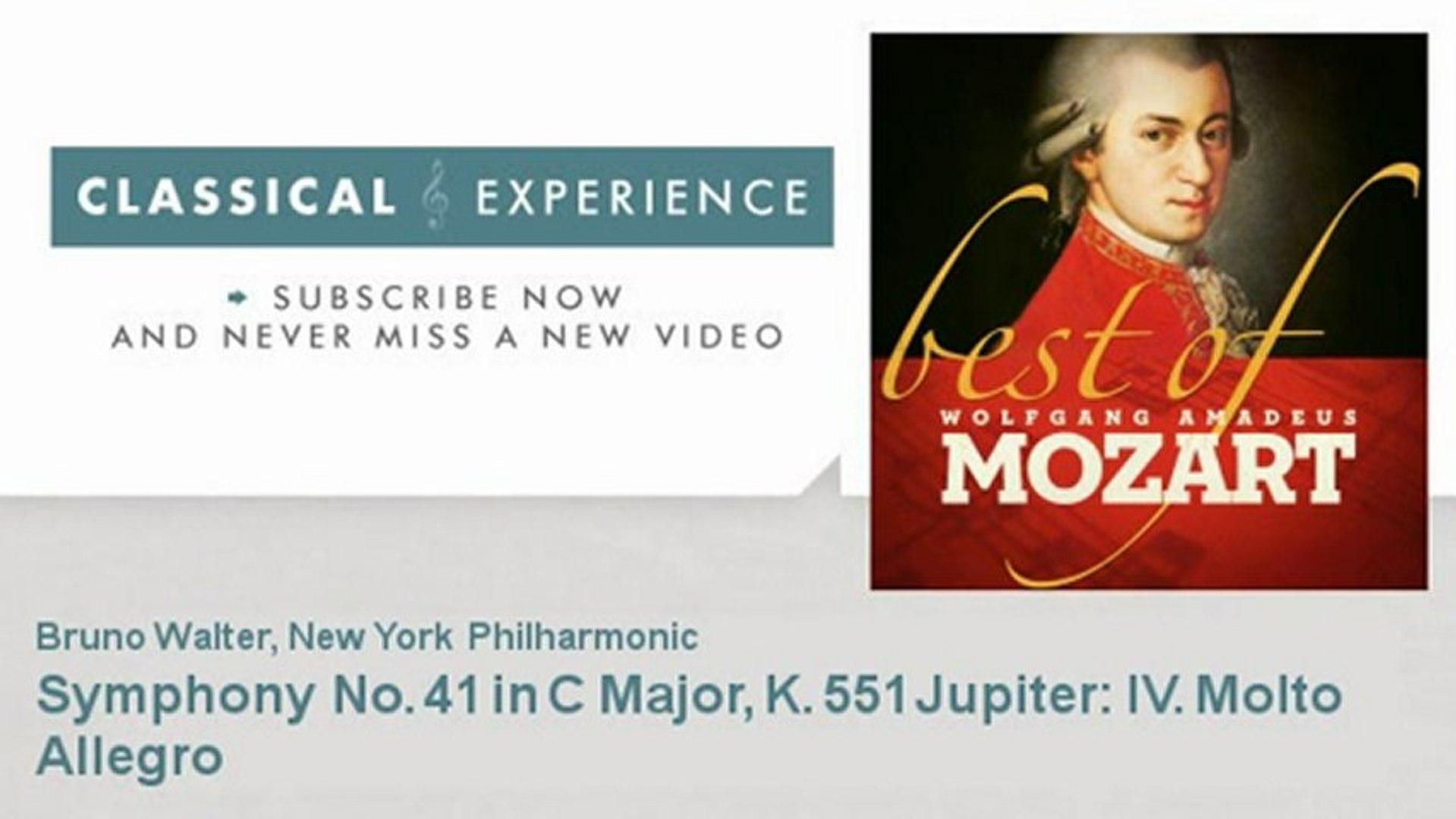 Wolfgang Amadeus Mozart : Symphony No  41 in C Major, K  551 Jupiter: IV   Molto Allegro