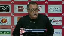 Conférence de presse AC Ajaccio - LOSC Lille : Albert EMON (ACA) - Rudi GARCIA (LOSC) - saison 2012/2013