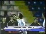 2003 (November 4) Celta (Spain) 3-Ajax Amsterdam (Holland) 2 (Champions League)