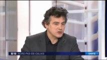 Patrick Pelloux en soutien aux urgences de Roubaix JT FR3 nord pas de calais 22/02/13