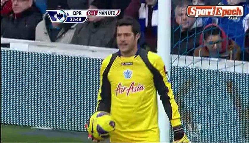[www.sportepoch.com]24 'Goal - Rafael towards the ball blasts broke Manchester United 1-0