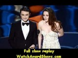 85th Oscars Actor Daniel Radcliffe and actress Kristen Stewart present onstage Oscars 2013