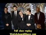 85th Oscars Actors Robert Downey Jr. Chris Evans Mark Ruffalo Jeremy Renner and Samuel L. Jackson present onstage Oscars 2013