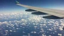 14h36► Début de Descente vers Aéroport Pôle Caraïbes Pointe-à-Pitre/Abymes Guadeloupe, Nuage et Océan en Vue ! ☀ 27/12/2012 Voyage Retour ✈ Paris/Guadeloupe ☺ Yannis Olivier Leborgne Malahël Vol Air Caraïbes Orly