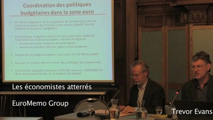 Conférence-débat sur l'état de l'Europe et nos initiatives 2013 - 1/6 1ère partie Trevor Evans