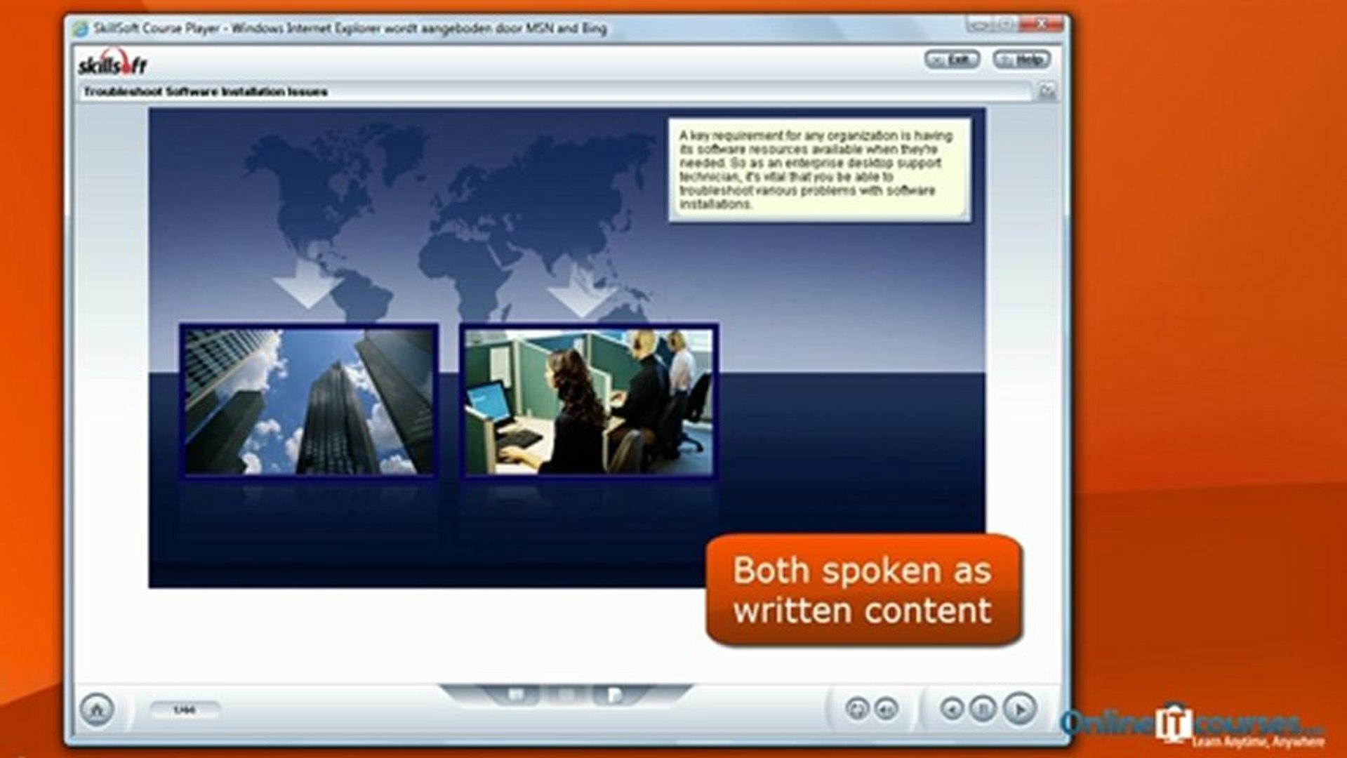 Training course: Windows 7: Enterprise Desktop Support Technician (exam 70-685)