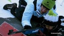 Vincent Jay aux Contamines Montjoie avec les enfants de Saint-Gervais Mont-Blanc
