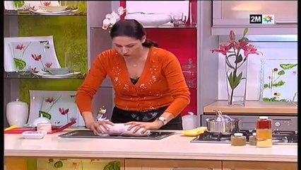 roulé choumicha poulet à la provençale