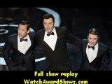 Joseph Gordon-Levitt host Seth MacFarlane and Daniel Radcliffe dance onstage Oscars 2013