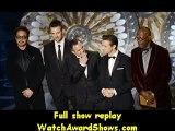 #Actors Robert Downey Jr. Chris Evans Mark Ruffalo Jeremy Renner and Samuel L. Jackson present onstage Oscars 2013