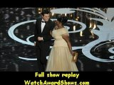 #Seth MacFarlane left and actress Octavia Spencer walk onstage Oscars 2013
