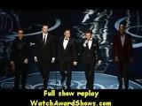 #Robert Downey Jr Chris Evans Mark Ruffalo Jeremy Renner and Samuel L. Jackson present onstage Oscars 2013