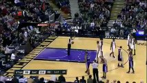 Funny Demarcus Cousins Waves with the crowd in Sacramento