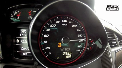 0 à 300 km/h en Audi R8 V10 Plus
