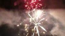 Carnaval de Binche (Be) 2013 Feu du mardi gras Pris du pas de tir des compacts toit du thêatre Vidéo SLY Presta PARTYFICES février 2013 HD 1080