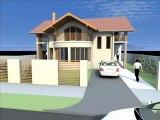 Casa B07.Proiect casa B07.Model casa cu mansarda. Plan casa cu mansarda.Vila cu mansarda