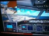 FSX Atterrissage a Nice Côte d'Azur avec un 747