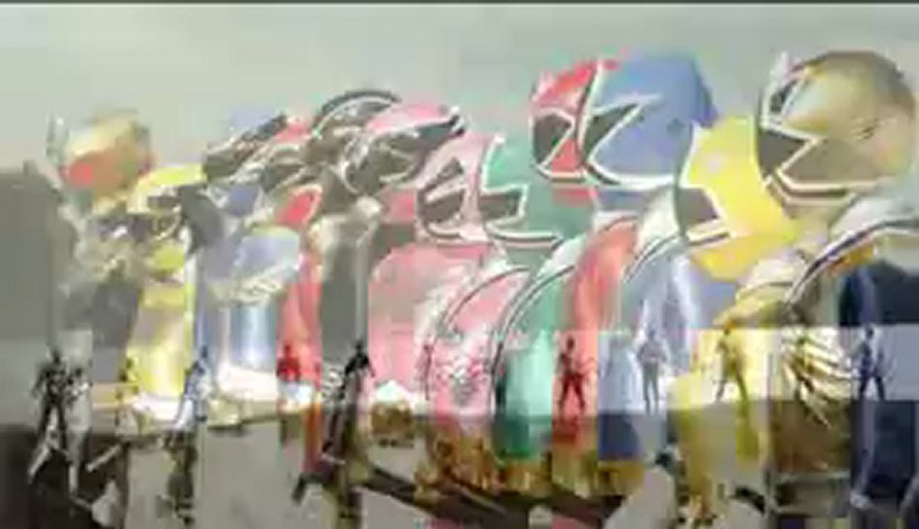 Power Rangers Megaforce and Power Rangers Samurai morph and roll call