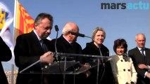 Jean-Noël Guérini prend à partie Marie-Arlette Carlotti pendant l'inauguration du Vieux port