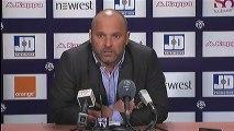 Conférence de presse Toulouse FC - Evian TG FC : Alain  CASANOVA (TFC) - Pascal DUPRAZ (ETG) - saison 2012/2013
