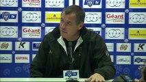 Conférence de presse SC Bastia - AC Ajaccio : Frédéric HANTZ (SCB) - Albert EMON (ACA) - saison 2012/2013