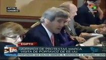 Protestas marcan vista de Kerry a Egipto